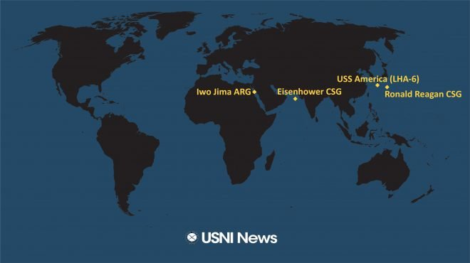 USNI News Fleet and Marine Tracker: June 7, 2021