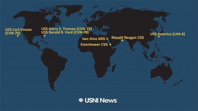 USNI News Fleet and Marine Tracker: June 28, 2021