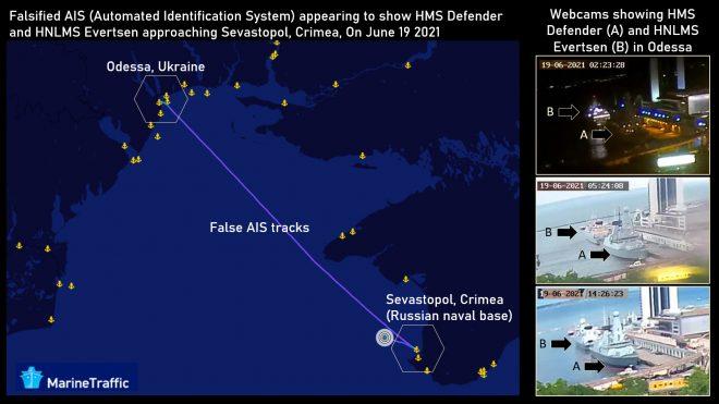 Positions of Two NATO Ships Were Falsified Near Russian Black Sea Naval Base
