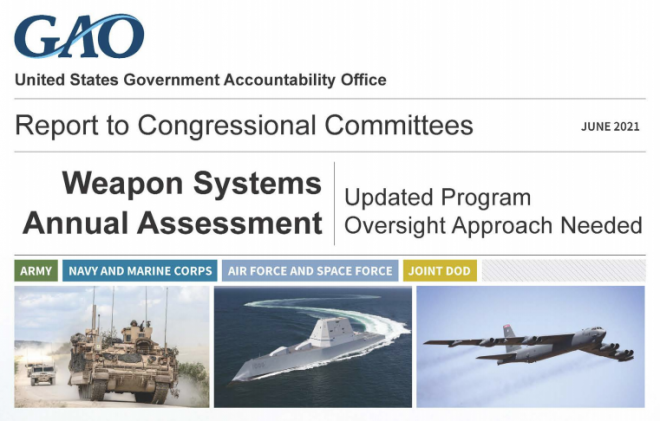 GAO's 2021 Weapon Systems Annual Assessment