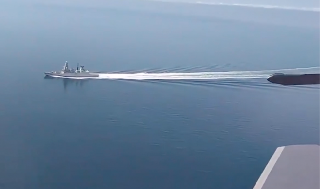 VIDEO: Russian Fighters Buzz British Warship in Black Sea, U.K. Denies Reports Bombs Dropped, Warning Shots Fired