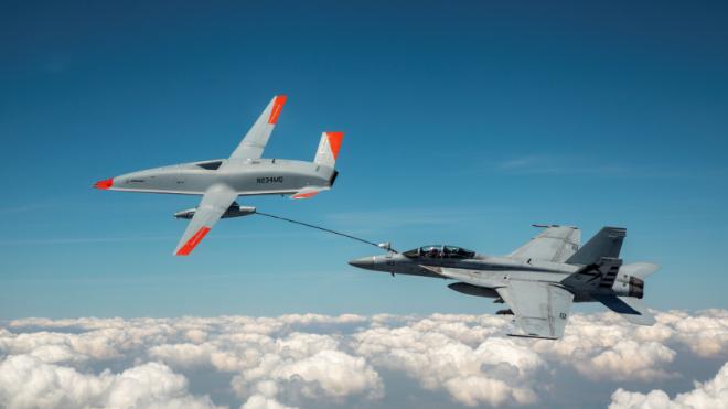 VIDEO: MQ-25A Unmanned Aerial Tanker Refuels Super Hornet in Successful First Test
