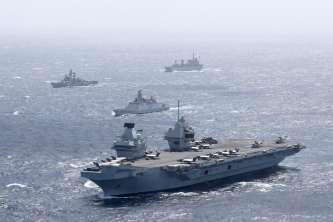 Carrier HMS Queen Elizabeth Drills with Indian Navy Ahead of More Pacific Exercises