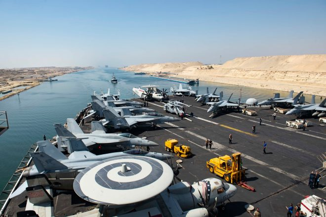 Carrier USS Dwight D. Eisenhower in the Med After 3 Months in the Middle East
