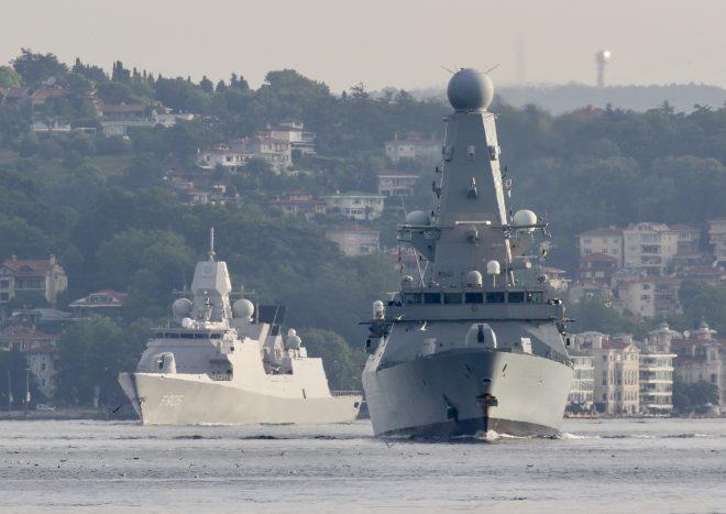 Warships HMS Defender, HNLM Evertsen Leave Black Sea