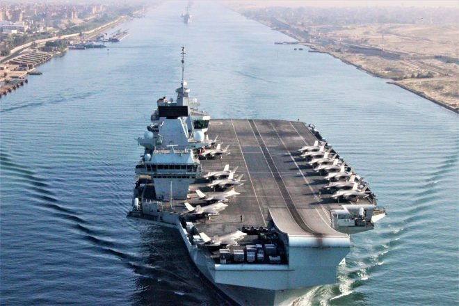 HMS Queen Elizabeth Enters Middle East After Suez Canal Transit; Carrier Eisenhower Now in Atlantic