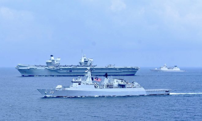 U.K. Carrier HMS Queen Elizabeth Now on the Edge of the South China Sea
