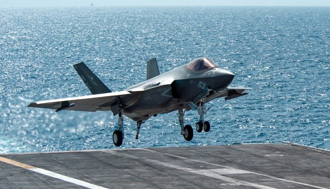 First F-35C Fighters, CMV-22B Deploy with Carl Vinson Carrier Strike Group