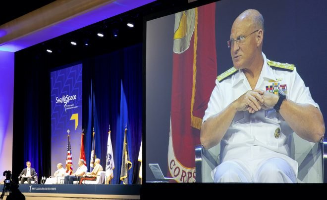 CNO Gilday Wants Industry to Focus on Shipbuilding, Readiness Not Lobbying for Aircraft 'We Don't Need'