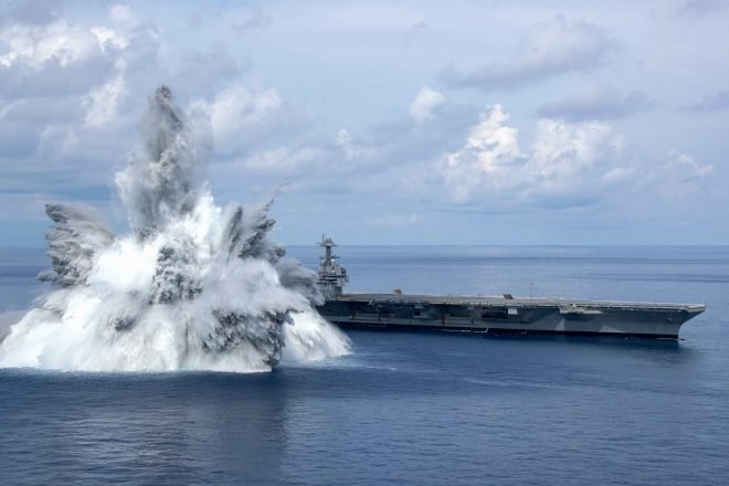 USS Gerald R. Ford Wraps Up Shock Trials Ahead of Maintenance Period, Deployment