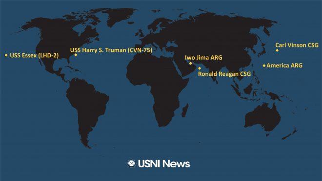 USNI News Fleet and Marine Tracker: Aug 23, 2021