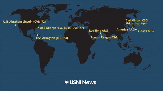 USNI News Fleet and Marine Tracker: Aug 30, 2021