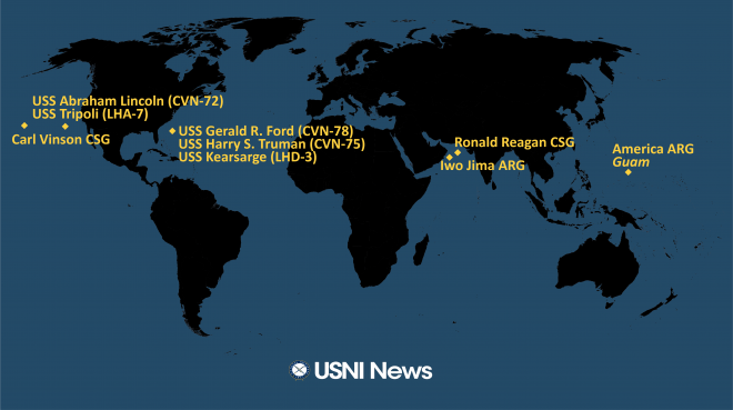 USNI News Fleet and Marine Tracker: Aug 9, 2021