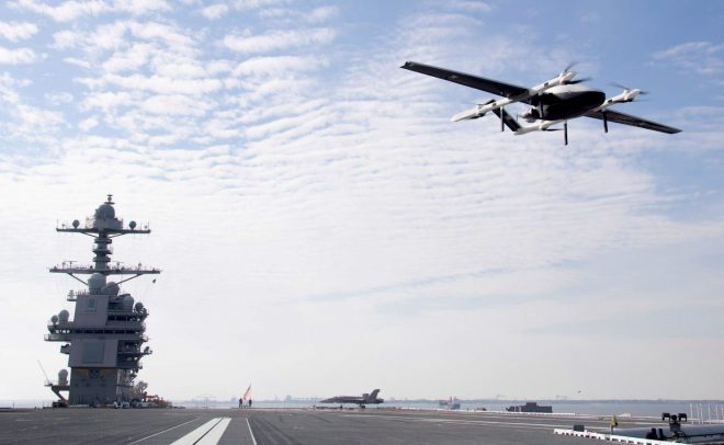 Navy Considering Drone Delivery for Essential Parts At Sea