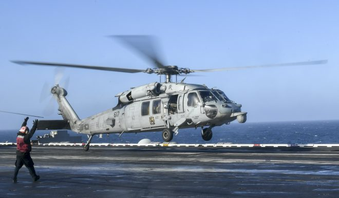 Navy Launching Mission in Attempt to Recover Crashed MH-60 Helo, Lost Sailors