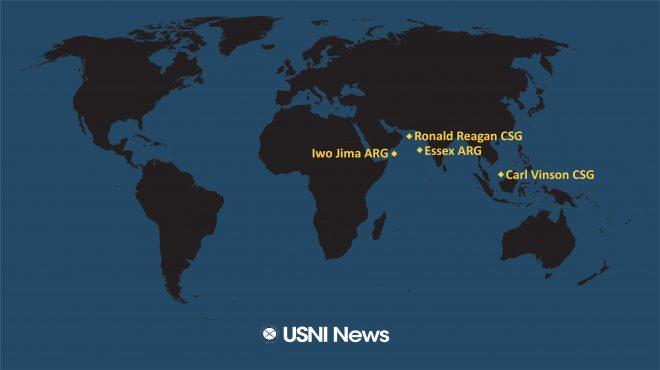 USNI News Fleet and Marine Tracker: Sept. 13, 2021
