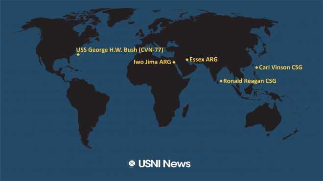 USNI News Fleet and Marine Tracker: Sept. 20, 2021