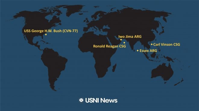 USNI News Fleet and Marine Tracker: Sept. 9, 2021