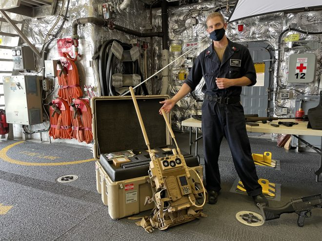 Navy Arming Surface Ships with Drone Repellent System