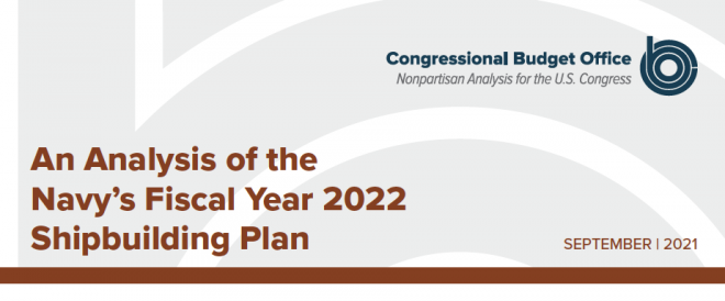 Congressional Budget Office Analysis of Navy's 30-year Shipbuilding Plan