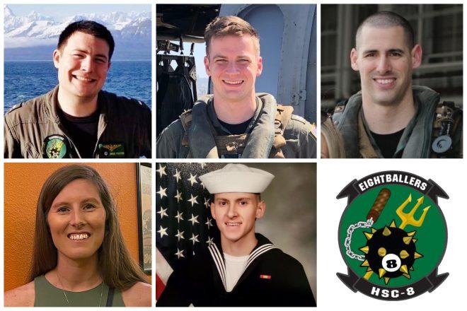 Navy Identifies 5 Sailors Presumed Dead After Helicopter Crash