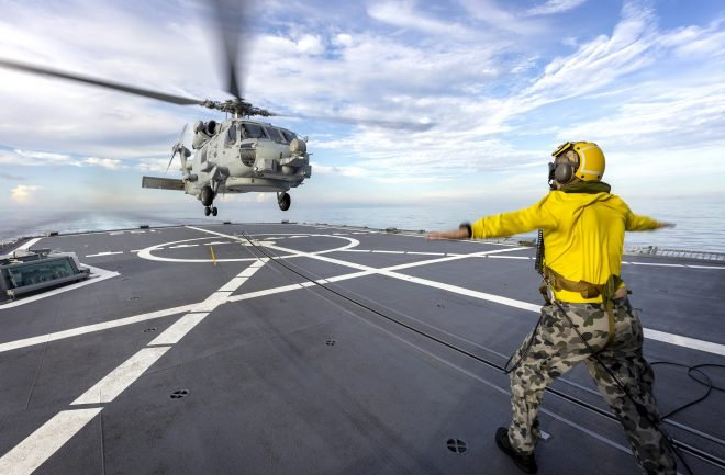 Royal Australian Navy Helicopter Crew Safely Rescued After Crash; RAN MH-60R Fleet Grounded