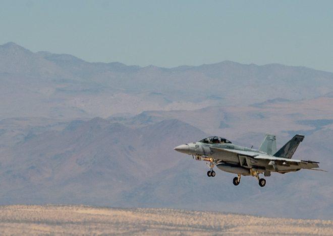 Super Hornet Crashes in Death Valley
