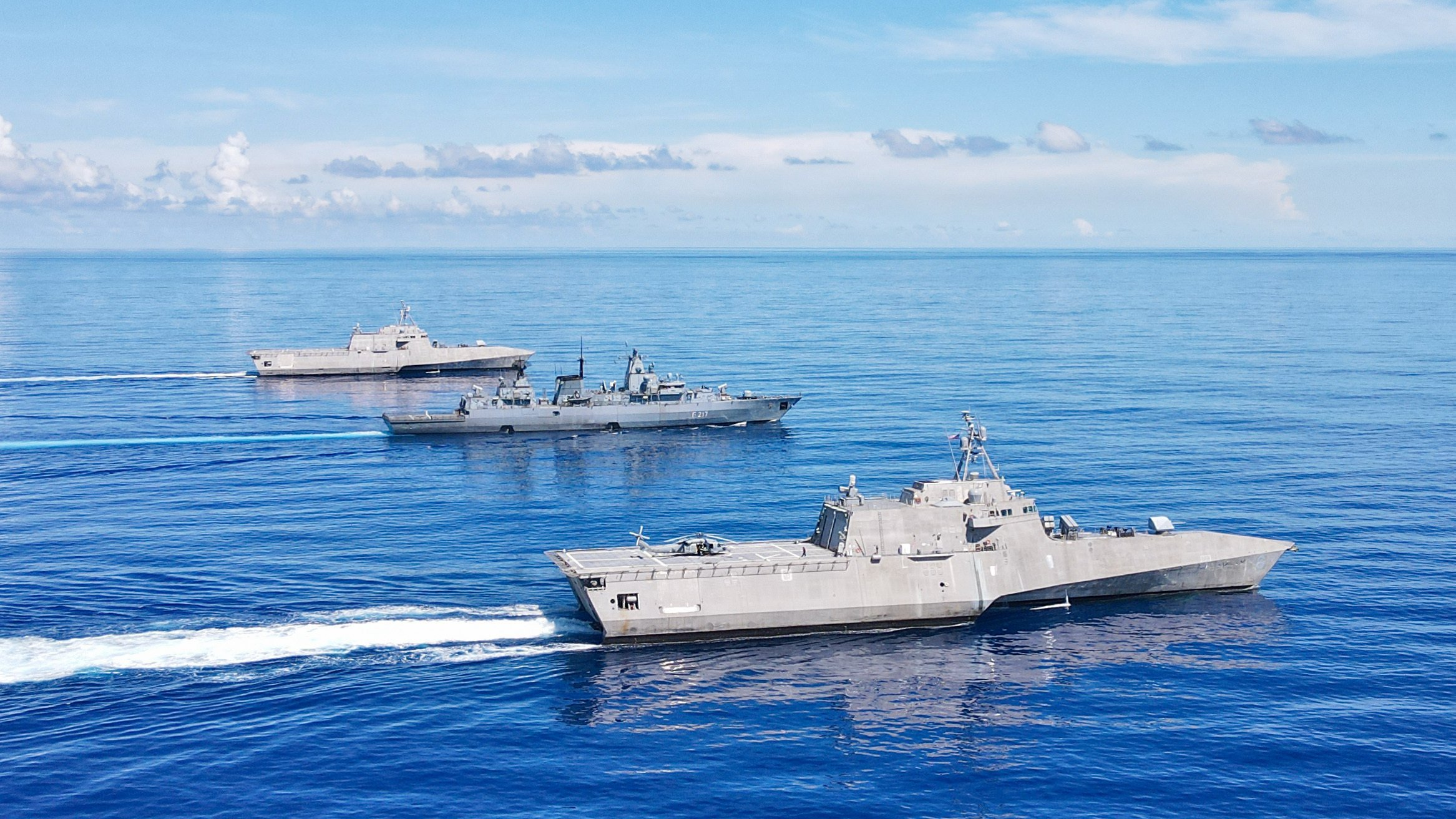 Trio of Littoral Combat Ships Operating 'All Over' Western Pacific, Training with Marines
