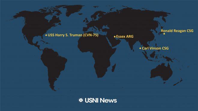 USNI News Fleet and Marine Tracker: Oct. 14, 2021