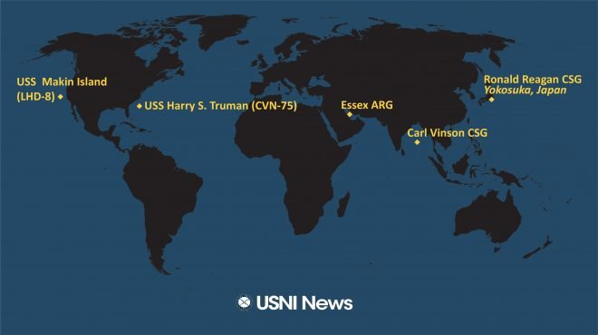 USNI News Fleet and Marine Tracker: Oct. 18, 2021