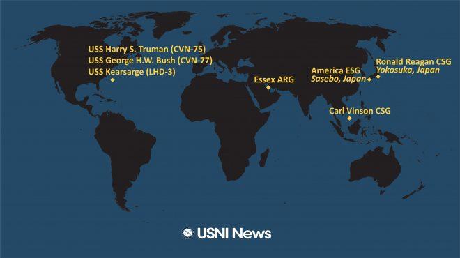 USNI News Fleet and Marine Tracker: Oct. 25, 2021