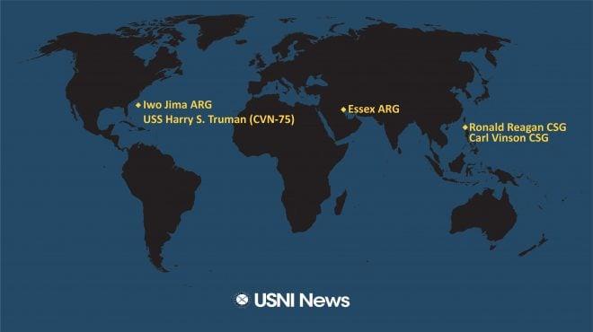 USNI News Fleet and Marine Tracker: Oct. 4, 2021