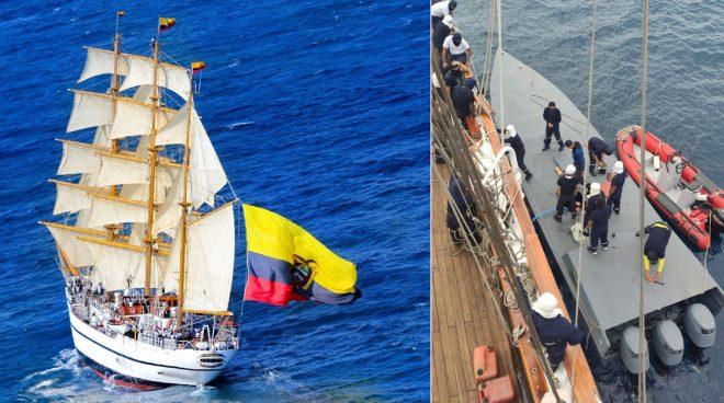 Ecuadorian Navy Sailing Ship Interdicts Drug Smugglers in the Pacific